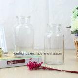 Vase en verre transparent à couleur décorative