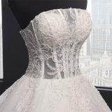 Без бретелек отбортовывая платье венчания шарика Sequin Bridal