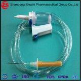 Medizinische Wegwerfinfusion IV stellte mit Basisrecheneinheits-Nadel-Teilen ein