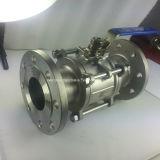 PN 16 Válvula de bola 3PC brida en acero inoxidable