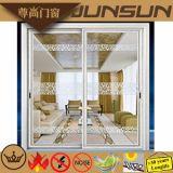 Portelli scorrevoli di alluminio con vetro Tempered ed i divisori mediani