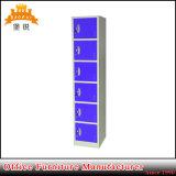 Design vertical colorida de aço Kd seis cacifo de porta