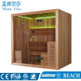 Square 4-6 Pessoa Capacidade Sala de Sauna seca de madeira de cedro (M-6045)