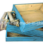 Rope Handles를 가진 가정 Decor Vintage Rustic Wooden Crate Trays
