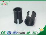Conseils de flexible en caoutchouc rondes glisse couvercle en plastique capuchon métallique