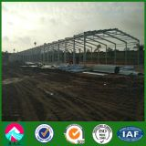 Granjas avícolas prefabricadas de la estructura de acero de China con el equipo Jaula-Que se alza