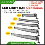 Hot modèle, 13pouce 20pouce 30pouce 40pouce 50pouces incurvé 52pouces CREE LED Light Bar Bar 4X4 LED