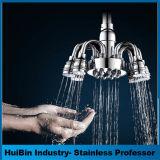 Montado na parede de banho de luxo com chuveiro de mistura de pressão alta pluviosidade Squre Combo Chuveiro
