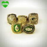4 PCS 1966 anillos de campeonato de 1967 1996 2010 embaladores del Green Bay fijado con el rectángulo ese un mejor regalo para los ventiladores