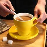 taza del café express de Latte de la taza del tulipán de la taza del cordón de 150ml América con el platillo