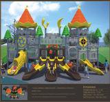 Crianças do castelo da fantasia de Kaiqi campo de jogos temático das grandes com corrediças (KQ50058A)