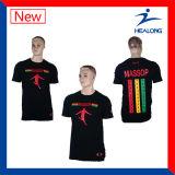 Healongの安い価格は人のためのカスタム昇華Tシャツに着せる