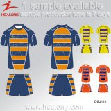 Diseño de Moda Sportswear Rip-Protection Healong la impresión digital Rugby Jersey
