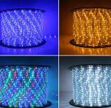 Decoração do casamento 2 fios de cor que mudam a luz da corda do diodo emissor de luz
