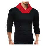 Le camice che lunghe del manicotto del Mens Hoodie supera casuale dimagriscono i pantaloni a vita bassa adatti della maglietta del pullover del collo di V