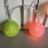 16暖かい白の屋内柳細工の藤の球の豆電球LEDs