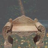 庭の装飾T-5824のための自然な大理石のベンチ