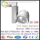 ESPIGA Tracklight antiofuscante do diodo emissor de luz, diodo emissor de luz da ESPIGA 30W nenhum excitador Tracklight da cintilação