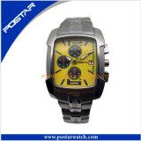 Relógio dos homens feitos sob encomenda da forma com a fábrica de confiança do relógio