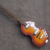 2017 Nueva llegada Hofne 500/1 Contacto serie Vintage Violin Bass Sunburst Cadena 4 Bb2 Electric Bass Guitar