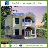 Casa luxuosa modular de aço pré-fabricada da casa de campo do baixo custo do fabricante