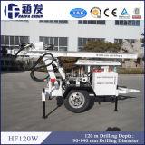 Equipamento Drilling pequeno de duas rodas para os poços de água (HF120W)