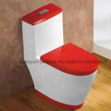 Ceramic One-Piece Toilet Siphonic Flushing Water Saving S-Trap (A-005)