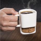 ビスケットが付いているベストセラーの8.8 Ozのクッキーのミルクのコーヒーカップの陶磁器のマグのダンクのマグ