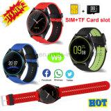 Telefone esperto do relógio de Bluetooth com câmera e ranhura para cartão W9 de SIM