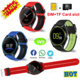 Meertalig Slim Horloge met de Groef van de Camera en van de Kaart SIM W9