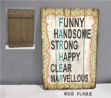 Искусствоо стены печатание деревянных знаков знака MDF сбор винограда деревянное с украшением слова
