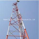 Autosuficiente material del tubo de 3 patas de tubo de acero de torre de comunicaciones