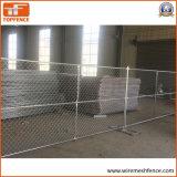 Utilisé 6' de haut x 10' de long panneaux portatifs de maillon de chaîne, chaîne temporaire de Wire Mesh Fence