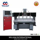 Tabela Movendo Muti-Head Router CNC Máquina de gravura de madeira VCT-1513TM-4h