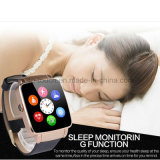 Téléphone mobile intelligent de montre de Bluetooth avec la fente de carte SIM (X6)