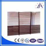 Perfil de grão de madeira de liga de alumínio para Fence