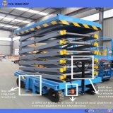 Elevador de tijera hidráulico eléctrico móvil 6-18m