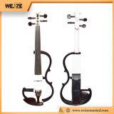 Estudante de madeira maciça violino eléctrico para instrumentos musicais