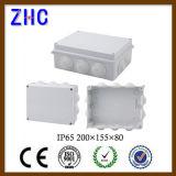 Boîte de jonction imperméable à l'eau du câble IP65 extérieur de PVC 255*200*120