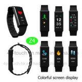 Visor colorido à prova de vigilância inteligente Bracelete Bluetooth com freqüência cardíaca Z4