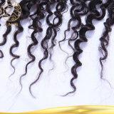 加工されていないインドのバージンの巻き毛の波の人間の毛髪8Aの等級