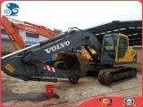 Neu-Lack 0.5~1.0cbm/20ton hydraulischer Gleisketten-Exkavator Wassererkühlung-Diesel-Motor verwendeter Volvo-Ec210blc