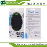 Banco de energia solar de 8000mAh, carregador solar para celular