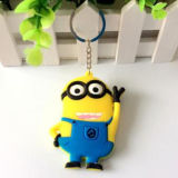Promoção Gift Hot Sale Cartoon Silicone Rubber Key Chain