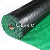 緑3mmの反スリップの狭いところの肋骨のゴム製フロアーリング