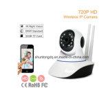 cámara audio del IP de Onvif de la tarjeta del TF del soporte del monitor del bebé de la visión nocturna de la cámara de vídeo 720p de WiFi de la manera elegante sin hilos de la seguridad casera HD 2