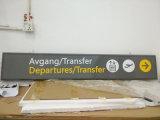 공항 기차역 지하철 실내 알루미늄 프레임 아크릴 LED 가이드 디렉토리 표시