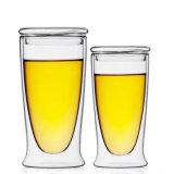 Tazza di caffè promozionale del regalo di caffè della tazza di Borosilicate di vetro della tazza di vetro doppia del latte