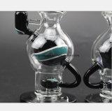 Purpur, blauer Glaskugel-Filter-rauchendes Gefäß