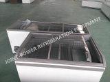 Vidro corrediço de porta de vidro superior do tórax profundo Ilha Congelador Congelador exibição combinada de Arrefecimento directo